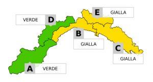Liguria, allerta gialla sul Centro-Levante