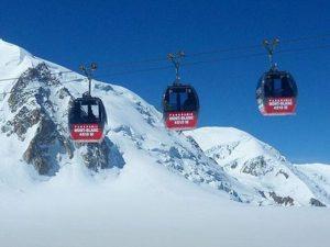 funivia bloccata sul Monte Bianco