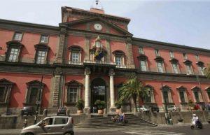 La facciata del Museo Archeologico Nazionale di Napoli