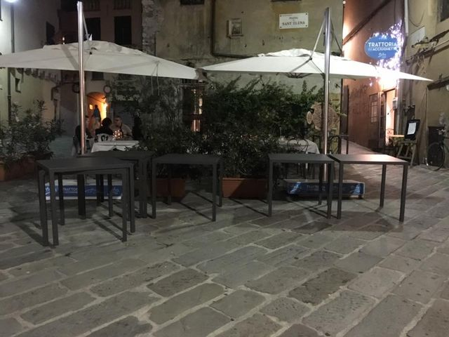 San Fruttuoso - Branco di cinghiali a spasso per via Savelli