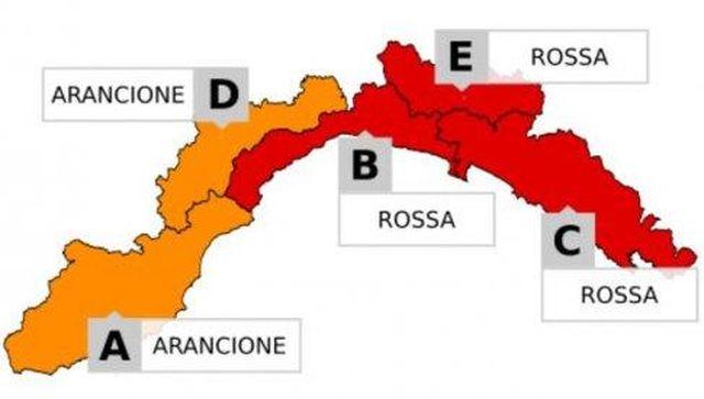 Maltempo in Liguria - Venerdì Allerta Rossa e scuole chiuse