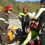 Canoista soccorso dai vigili del fuoco a Brugnato