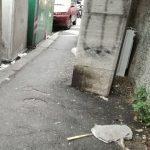 Marassi – Pioggia di detriti in passo Centurione Bracelli, tragedia sfiorata