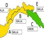 Liguria, allerta gialla sino alle 15 di domani su Imperia, Savona e Genova