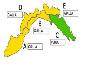 Liguria, allerta gialla sino alle 15 di domani
