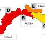 Maltempo, allerta rossa su Genova, Savona e Imperia. Arancione e gialla sullo spezzino