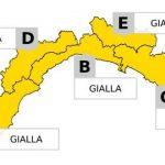 Maltempo in Liguria – Allerta Gialla sino alle 19