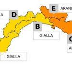 Maltempo in Liguria – Allerta da mezzanotte alle 18 di sabato 5 novembre