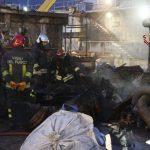 Costa Concordia – Incendio nel cantiere di demolizione a Genova – VIDEO