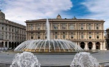 piazza De Ferrari fontana