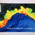 Emergenza incendi in Liguria – Regione: rischio si sposta a ponente