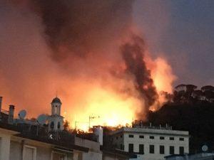 Incendi a Genova, Polizia salva sette cuccioli. Messe al sicuro 10 persone a Pegli