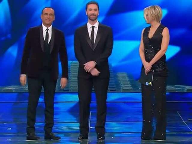 Raoul Bova e Rocio a Sanremo 2017 per dichiarare il loro amore