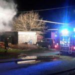 Ceparana – Incendio in un magazzino