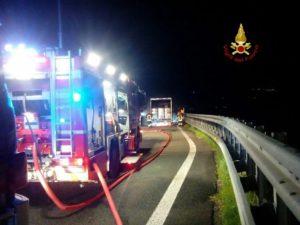 incendio sulla A12