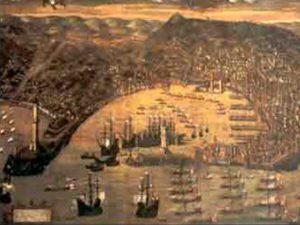 Il porto di Genova e la Lanterna in una rappresentazione del 1481