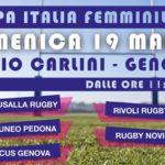 Rugby Femminile – Domenica 19 marzo la tappa della Coppa Italia al Carlini