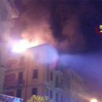 Fezzano, incendio in una palazzina: evacuate tre famiglie