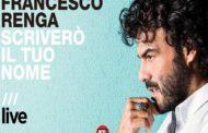 Musica - Esce oggi il primo album live di Francesco Renga