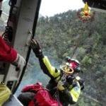 Orco Feglino, Vigili del Fuoco in azione per soccorrere turista caduto in mountain bike