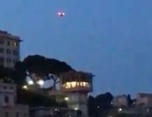 drone in volo sul Centro Storico