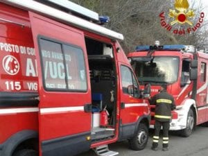 Cassonetto in fiamme al Alassio