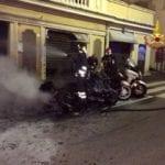 Genova Castelletto, motorini in fiamme in corso Monte Grappa