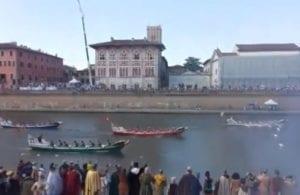 Genova vittoriosa alla Regata di Pisa
