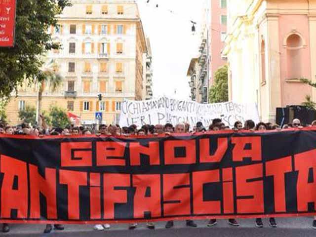 Genova - Corteo antifascista in ricordo del 30 giugno 1960