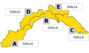 Maltempo in Liguria - Prolungata l'allerta che passa a su tutta la regione