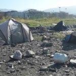 Chiavari, accampamento rom in piazza Giovanni Paolo II: ancora uno sgombero alla Colmata