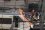 Piazza De Ferrari set di uno spot televisivo. Traffico deviato