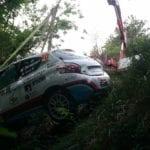La Spezia – Incidente al Rally del Golfo dei Poeti, auto fuori strada a Biassa