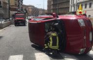 Grave incidente stradale in corso Europa