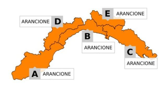 Allerta arancione sulla Liguria sino alle 14 per temporali