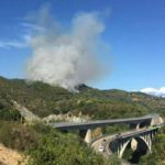 Domato l'incendio sulle alture di Vesima
