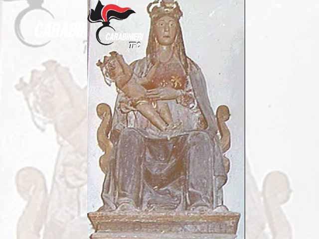Roccafluvione, recuperata la statua della Madonna rubata 25 anni fa
