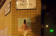 Una batgirl in piazzale Parenzo, ecco un'altra opera di Tiler