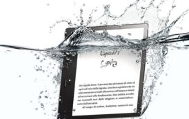 Amazon presenta Kindle Oasis,  il nuovo ereader resistente all'acqua