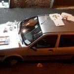 Marassi – Auto usate come tavole imbandite per i tifosi