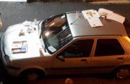 Marassi - Auto usate come tavole imbandite per i tifosi