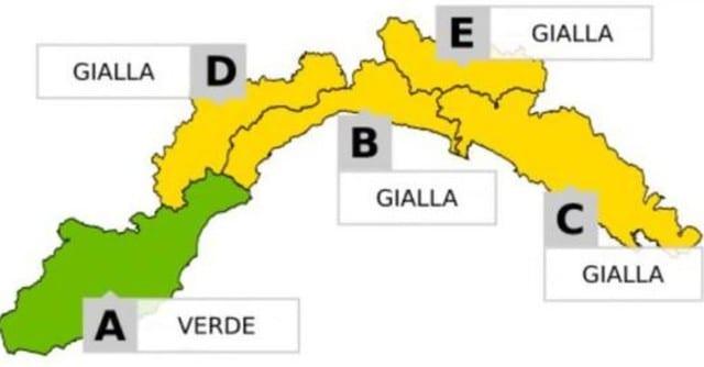 Maltempo in Liguria - Allerta gialle sino alla mezzanotte, evacuata la zona rossa