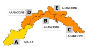 Maltempo in Liguria - Forti piogge nella notte, Allerta arancione sino alle 15