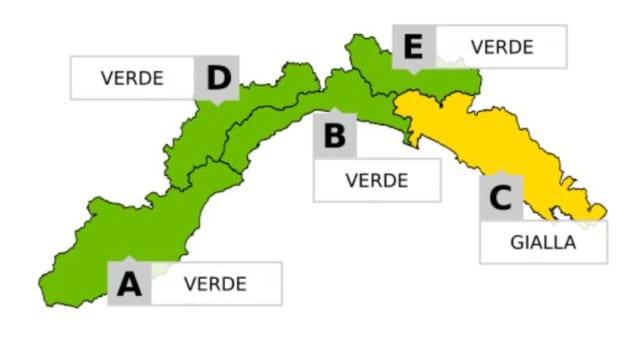 Allerta Gialla per temporali da Portofino a Sarzana