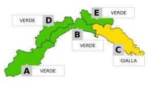 Maltempo in Liguria - L'allerta meteo nel levante terminerà alle ore 12.00