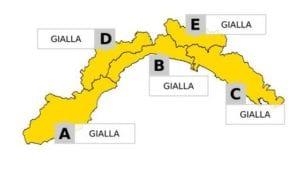 Maltempo in Liguria - Allerta gialla prolungata fino alle 17