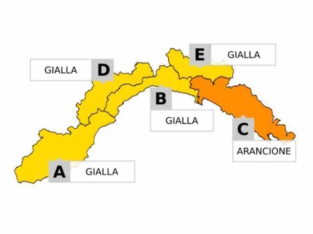 Maltempo in Liguria - Allerta arancione sullo Spezzino, gialla nel resto della Liguria