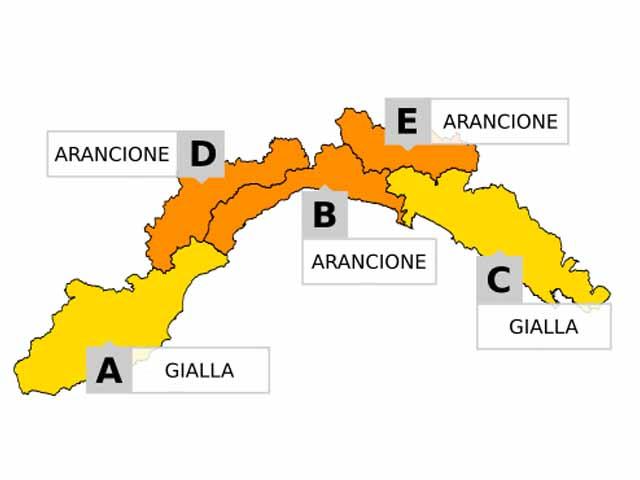 Allerta maltempo in Liguria, possibili nevicate e vento forte