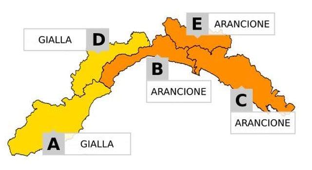 Maltempo in Liguria - L'allerta prolungata a domenica e passa ad arancione dalle 20