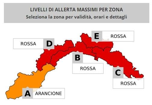 Emergenza maltempo in Liguria, il punto della situazione alle 19